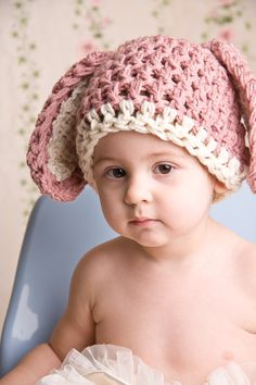 Easter Bunny Hat Crochet - love the idea, wonder if I can figure it out...
