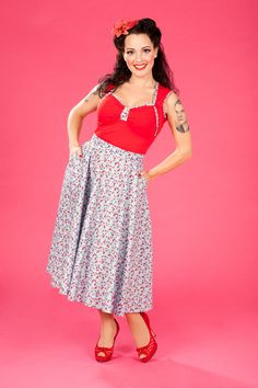 *Saige-Sue - Full circle skirt with hidden side pockets