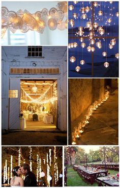Trendy Wedding, wedding ideas and inspiration blog ♥ French Wedding Blog: Playing with Light: more than a decorative detail, the assurance of creating a real atmosphere