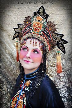 photo by - www.faceonbytamara.com  Made To Order Fantasy Chinese Asian Queen Princess by MIMSYCROWNS, $625.00