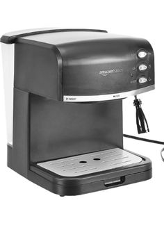 Espresso machine for making cafe-quality coffee drinks at home. Make espresso, cappuccino, and lattes with ease Built-in milk frother with adjustable steam knob creates fresh, foamy topping. 1.5 liter detachable water tank, 15 bar pressure pump, and detachable drip tray. Safety features include overheat and overpressure protection Ceramic espresso cup included. Product Dimensions 10.8 x 10.6 x 10.7 inches Item Weight 6.55 pounds Manufacturer AmazonBasics Milk Frothers, Pressure Pump, Drip Tray, Espresso Cups, Water Tank, Coffee Drinks, Espresso Machine, Latte, Coffee Maker