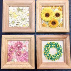 東京での2日間イベントは無事に終了したようです(*'ω'ノノ゙☆パチパチ まだ報告ないので、嫁入りしたかは不安… こちらの4点制作しました〜! #paperflowers #quillingflowers #クイリング #ペーパークイリング #quilling