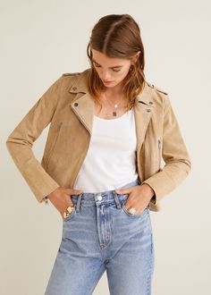 5bc2775f82 Leather Shorts, Suede Leather, Leather Jacket, Blouson, Fall Outfits, Nice  Outfits