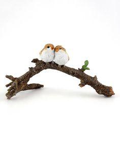 Loving this Lover Birds on Branch Decor on #zulily! #zulilyfinds
