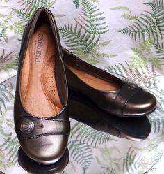 42d507c807097 Cobb hill bronze leather loafers slip ons slides dress work shoes womens sz  8 m