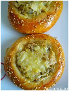 Salam alyakoum/bonjour, Voilà des délicieux petits pains qui accompagneront à merveille la fameuse harira comme le dit si bien ma chère ranouza chez qui j'ai déniché cette petite merveille bien répandue sur la blogosphère. Et en plus, on peut varier la...