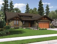 Floor Plan AFLFPW76489 - 1 Story Home Design with 3 BRs and 2 Baths