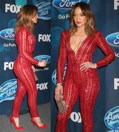 Jennifer Lopez at the American Idol Farewell Season Finalist Party at the London Hotel in West Hollywood on February 26, 2016