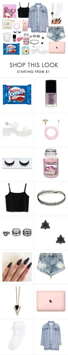"""""""pink paradise"""" by hannahgraccee ❤ liked on Polyvore featuring Forever 21, River Island, Polaroid, Eos, Yankee Candle, Chicwish, Lulu*s, One Teaspoon, Chicnova Fashion and Monsoon"""