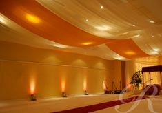 Ceiling drape.  We can easily drape the ceilng with fabric by using the ceiling tile frame.