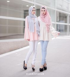 Pair our #hijabistababydolltop with #hijabistajeans Babydoll Top - RM39 Joni Jeans - RM49