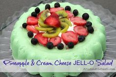 Pineapple & Cream Cheese Jell-o Salad #kraftrecipes