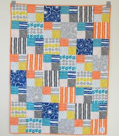 Everything about The Take Along Quilt is fast. Stash buster quilt projects like this keep your costs low and will clean your closet of fat quarter quilt patterns in no time. Make a variation of a nine patch quilt pattern that you can take with you. Quilting For Beginners, Quilting Tutorials, Quilting Projects, Quilting Designs, Sewing Projects, Sewing Ideas, Diy Projects, Jelly Roll Quilt Patterns, Baby Quilt Patterns