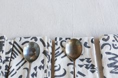 Charcoal Dashes & Moons Napkin Set