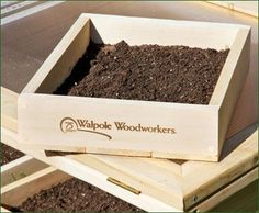Cedar Seed Trays - Spring ahead into a successful growing season. Set of 3 trays. Spring Garden, Home And Garden, Walpole Woodworkers, Walpole Outdoors, Building Raised Beds, Spring Ahead, Vegetable Garden, Gardening Tips, Create Yourself