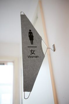 Great use for a coat hanger | signage