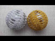 Bombka na wypełnieniu plastikowym / akrylowym 8cm - Szydełko - YouTube Crochet Christmas Ornaments, Christmas Crochet Patterns, Holiday Crochet, Christmas Balls, Christmas Decorations, Crochet Ball, Crochet Home, Knit Crochet, Holiday Crafts