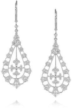 STONE  Belle de Jour 18-karat white gold diamond earrings