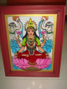 Glass painting - Goddess Lakshmi