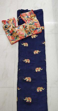 Chinnon chiffion with readymade blouse   Buy online Chiffon Sarees   Elegant Fashion Wear
