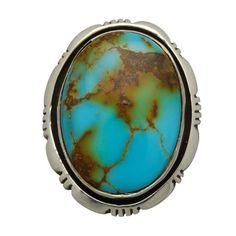 Bague Navajo en argent sertie d'une turquoise. | Harpo Paris