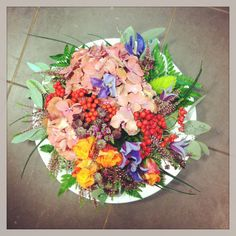 Autum Floral Wreath, Wreaths, Autumn, Flowers, Beauty, Design, Home Decor, Floral Crown, Decoration Home