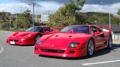1996 Ferrari F50 and 1990 Ferrari F40