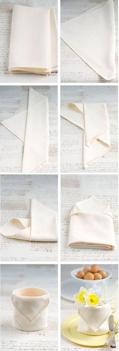 15 DIY Napkin Folding Techniques for a Fancy Dinner Table 15 D., dinner set up 15 DIY Napkin Folding Techniques for a Fancy Dinner Table 15 D. Easy Napkin Folding, Folding Napkins, Deco Table, Decoration Table, Origami Decoration, Dinner Table, Tablescapes, Diy And Crafts, Table Settings