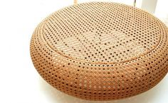 The Round Bench Table is a coffee table that also functioned as a bench, shaped round spacious, a combination of modern design with synthetic rattan weaving, this durable furnitures is suitable for both indoor and outdoor - by Alvin Tjitrowirjo   www.alvin-t.com