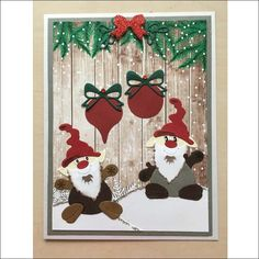 Santa Christmas words and die cuts scrapbooking die cuts greeting card die cut