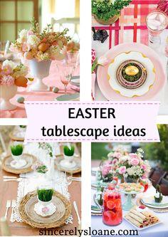 10 Gorgeous EASTER Tablescape Ideas!! www.sincerelysloane.com