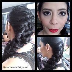 Braid and makeup