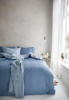 Blue Bedspread, Blue Bedding, Linen Bedding, Garden Living, Bed Spreads, Kimono, Interior, Furniture, Bedroom Inspiration