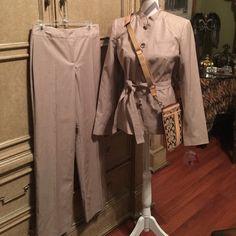 NWT ISAAC MIZRAHI SUIT NWT ISAAC MIZRAHI SUIT in beige blazer size 8 pants size 4. Isaac Mizrahi Other