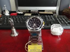 Invicta 13974 Chronograph Specialty Flame Fusion Crystal Watch w/ Case & Manual! #Invicta #Sport