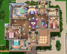 Looking for a colorful sims house here you are! It is very vibrant and filled with color.