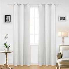Deconovo Blackout Window Curtains Pair of Room Darkening Grommet Insulated Drapes Noise Reducing Soundproof 54 Inches Long Panels for Bedroom Home Office, 2 Pieces, Each in, Light Greyish White Cool Curtains, Colorful Curtains, Grommet Curtains, Hanging Curtains, Blackout Curtains, Window Curtains, Black Out Curtains Nursery, White Black Out Curtains, Curtain Panels