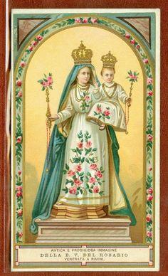 Holy Card Santino  Vergine del Rosario Rimini