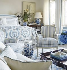 blue bedroom // mark d sikes interior design