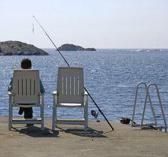 Fisch im Freiluftkino - Urlaub im Ferienhaus auf der Insel Karmoey vor Westnorwegens Küste. | Foto: Franz Lerchenmüller