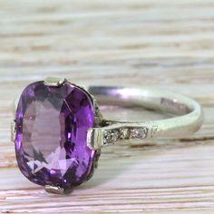 Art Deco 4.28 Carat Natural Purple Sapphire Ring, circa 1920 by GatsbyJewels on Etsy https://www.etsy.com/listing/252359826/art-deco-428-carat-natural-purple