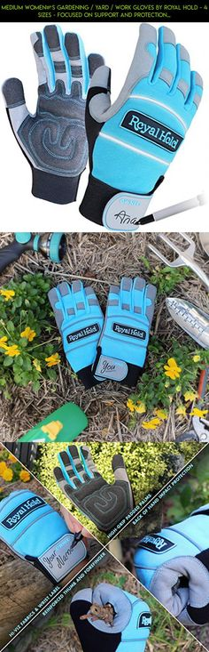 Medium Women's Gardening / Yard / Work Gloves by Royal Hold - 4 Sizes - Focused on Support and Protection. Gardening Gloves Women Will Find Comfortable. Tailored Teal / Silver / Black Garden Gloves #plans #fpv #technology #parts #drone #shopping #kit #gardening #products #tech #camera #racing #gloves #gadgets #women