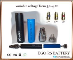 Ego RS - Variable Voltage 900mAh Rechargeable ego rs Batteries and Starter Kit
