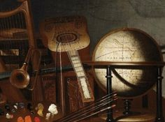 """Bartolomeo Bettera, """"Still Life with Musical Instruments and Books"""", mid-17th century, oil on canvas. www.italianways.com/music-and-still-lifes-by-bartolomeo-bettera/"""