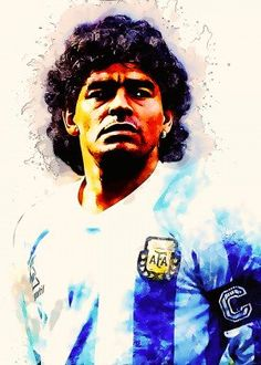 Hand-crafted metal posters designed by talented artists. We plant 1 tree for each purchased Displate. Football Is Life, Football Art, Maradona Tattoo, Diego Armando, Legends Football, Composition Art, Fruit Illustration, National Football Teams, Football Pictures