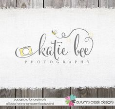 Premade Photography Logo   Camera Swirls Bee Logo by autumnscreek, $70.00