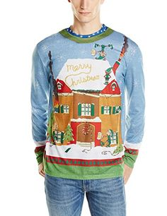 Faux Real Men's Elves Gone Wild Ugly Christmas Sweater Printed Tee, Blue/Green, Small Faux Real http://www.amazon.com/dp/B00M1TJNEM/ref=cm_sw_r_pi_dp_c2pbvb1E9KC6Q