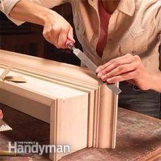 How to Build Window Cornices - Step by Step: The Family Handyman Window Cornice Diy, Wooden Cornice, Window Cornices, Window Coverings, Cornice Ideas, Woodworking Plans, Woodworking Projects, Cornice Design, Cornice Boards