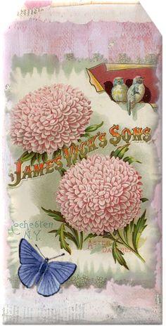 Vintage Floral Tag