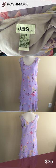 """BOGO 50% Lavender long dress Size 12 Lavender sleeveless floral dress. Pullover dress. Armpit to bottom hem 33"""". Armpit to armpit 38"""" J.B.S Dresses Midi"""